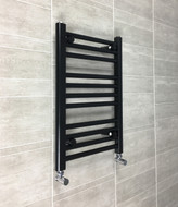 400mm wide 600mm high heated towel rail radiator black