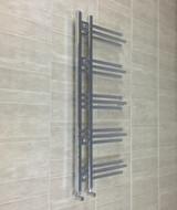 500 x 1160mm Designer Chrome Heated Towel Rail Bathroom Radiator