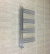 500 x 900mm Designer Chrome Heated Towel Rail Bathroom Radiator