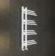 Difta Designer Towel Rail Radiator White 500mm wide 900mm high Bathroom