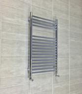 500 x 800mm Flat Chrome Towel Radiator 22mm tube Diameter 17 Ladder Bars