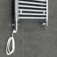 Chrome Duel Fuel Kit Heating Element - For Heated Towel Rail Radiator