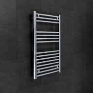 500 x 800mm Flat Chrome Heated Towel Rail Radiator 15 Ladder Bars