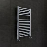 500 x 760mm Flat Chrome Heated Towel Rail Radiator 25mm tubes