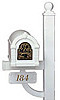 Keystone Original Series Accent Color Mailbox & Deluxe Post Package
