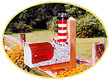 Solar Powered Assateague Lighthouse Mailbox