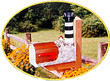 Solar Powered Bodie Island Lighthouse Mailbox