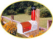 Solar Powered Little Sable Point Lighthouse Mailbox