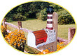 Solar Powered Morris Island Lighthouse Mailbox