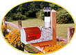 Solar Powered Oak Island Lighthouse Mailbox