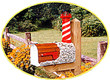 Solar Powered White Shoal Lighthouse Mailbox