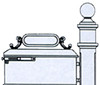 IMPERIAL MAILBOX SYSTEM #311-610K - Knob Door