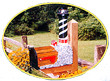 Solar Powered Cape Hatteras Lighthouse Mailbox