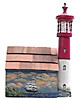 Wooden Wall Mount Mailbox with Electric Lighthouse