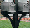 Deluxe Twin Side-Mount Mailbox Post, In-Ground Burial