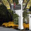 Dover Mailbox Post - White