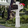 Westbrook Plus Mailbox Post - White