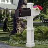 Westbrook Plus Mailbox Post - White
