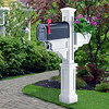 Signature Plus Mailbox Post - White