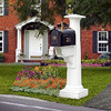 Statesville Mailbox Post - White