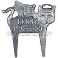 Memorial Pet Marker Angel Cat