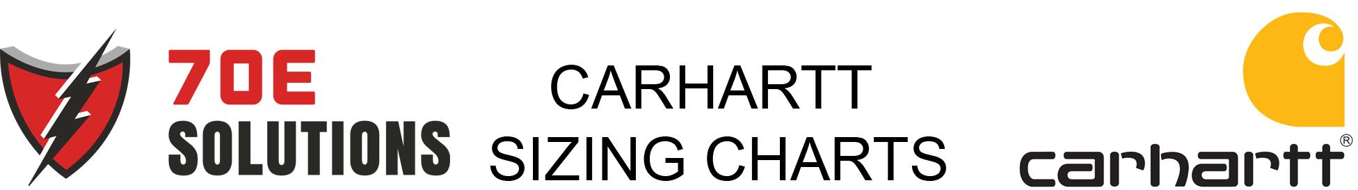 Carhartt sizing charts