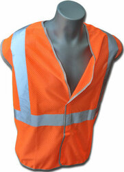 Estex Class 2 Orange Non-FR Polyester Knit Mesh ## 1615-2O-RT ##