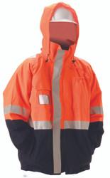 Nasco Omega 5000 Series Navy/Fluorescent Orange Waist Length Jacket ## 5503JNFO ##