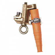 "Grade 3 Bronze Flat Jaw Grounding Clamps ""T"" w/ strain sleeve & ""T"" screw"