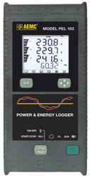 AEMC PEL 103 (2137.52) Power and Energy Logger, with Display; with Sensors