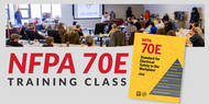 8 Hour NFPA 70E Training Class with Book included ($379.50 includes training, book and sales tax)
