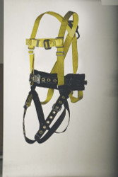 9630NTM Full body harness miner's type D-ring center back and lower lumbar for fall restraint