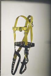 9630BB Full body harness positioning type D-ring at back and safety belt with side D-rings and tongue-buckle type leg straps