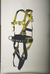 9630WS Full body harness iron worker's type Back pad and tool belt. Parachute-buckle type connections