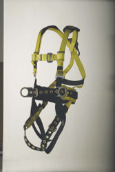9639B Full body harness iron worker's type Back pad and tool belt. Tongue-buckle connections