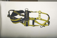 9609BPT Full body harness tower working type 5 D-rings. Padded seat and waist straps Tongue-buckle Connections