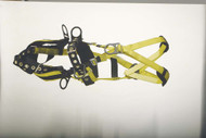 9609BFPT Full body harness tower working type 6 D-rings. Padded seat and waist straps Tongue-buckle Connections