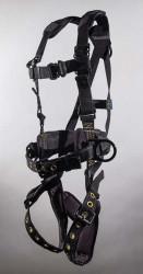 U-9839BKQLTP D-Ring Center Back Tongue Buckle Leg Tool Belt Padded Legs with Trauma Pad Kevlar