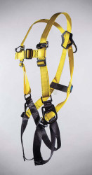 98305-6 Full Body Harness with D-Ring Center Back with 3 D-Rings
