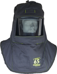 Oberon 65  Cal/cm² True Color Grey Arc Flash Hood