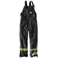 101628 Men's Flame Resistant Striped Duck Bib Lined Overall