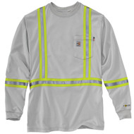101699 Men's Flame Resistant Striped Force Cotton Long Sleeve T-Shirt