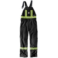 101703 Men's Flame Resistant Striped Duck Bib Unlined Overall
