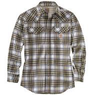 102015 Men's Flame Resistant Snap Front Plaid Shirt