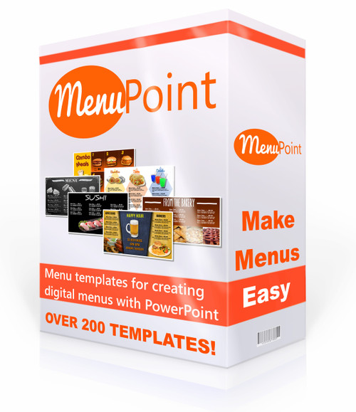 powerpoint templates to create digital menu boards, Modern powerpoint