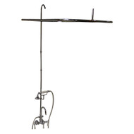 "Add A Shower Kit, Hand Shower, 48"" Curtain Rod,  Lever Handles, Polished Chrome"