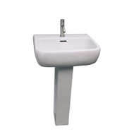 Barclay Metropolitan 600 Pedestal Sink, 1-Hole Faucet, White Finish