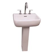 "Barclay Metropolitan 600 Pedestal Sink, 8"" Widespread, White Finish"