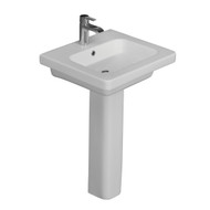 "Barclay Resort 650 Pedestal Sink, White Finish, 8"" Widespread"