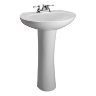 "Barclay Hampshire 450 Pedestal Sink, 4"" Centerset Faucet, White Finish"